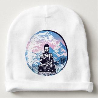 Gorro Para Bebê Onda de montanha tropical de Buddha