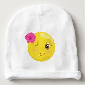 Gorro Para Bebê Piscar os olhos floral Emoji feminino