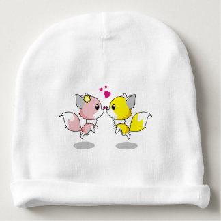 Gorro Para Bebê Raposas bonitos no beanie do bebé dos desenhos
