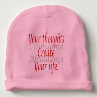 Gorro Para Bebê Seus pensamentos criam sua vida