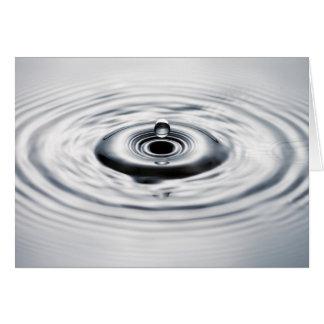Gota 8 da água cartão