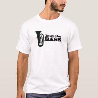 Gota do instrumento de bronze de chifre baixo o camiseta