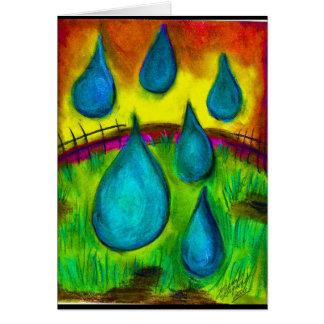Gotas da chuva cartão
