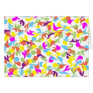 Gotas da cor no branco Vazio-Dentro do cartão
