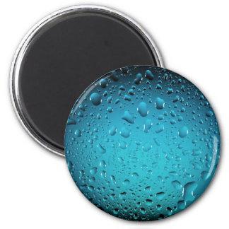 Gotas legal da água azul ímã redondo 5.08cm