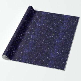 Grade estrelado do céu nocturno papel de presente