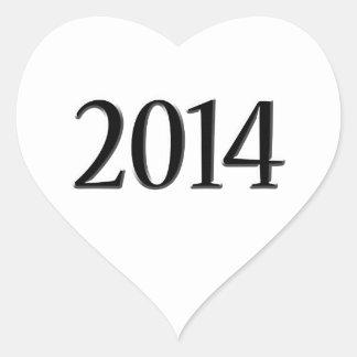 Graduação 2014 3D preta Adesivos Em Forma De Corações
