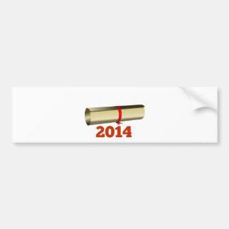 Graduação 2014 adesivo para carro