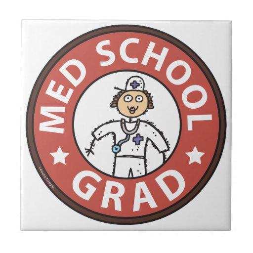 Graduação da Faculdade de Medicina (fêmea) Azulejos De Cerâmica