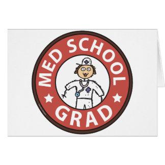 Graduação da Faculdade de Medicina (fêmea) Cartões