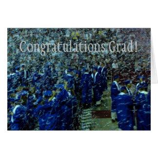 Graduação das felicitações cartão comemorativo
