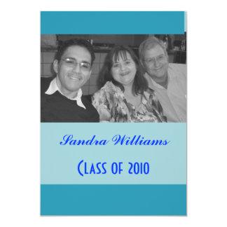 graduação do azul de turquesa convite 12.7 x 17.78cm