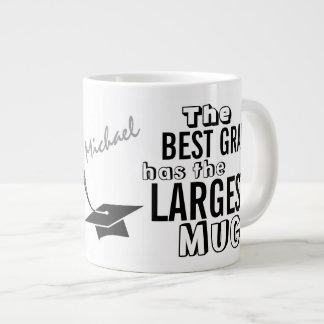Graduação grande personalizada da caneca do melhor jumbo mug
