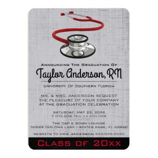 Graduação na moda da Faculdade de Medicina do Convite 12.7 X 17.78cm