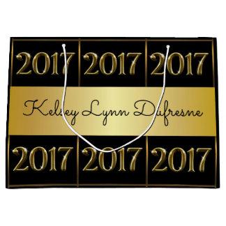 Graduação personalizada 2017 sacola para presentes grande