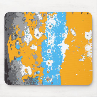Gráfico abstrato da laranja, do azul e das cinzas mousepads