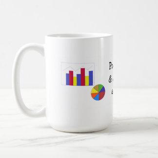 Gráfico da estratégia de marketing da projeção caneca de café
