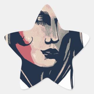 Gráfico da mulher adesito estrela
