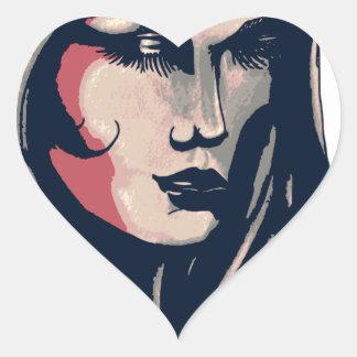Gráfico da mulher adesivo coração