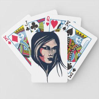 Gráfico da mulher baralho de truco