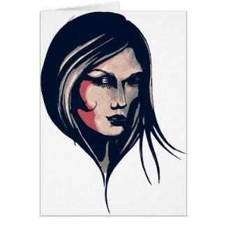 Gráfico da mulher cartão comemorativo