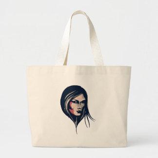 Gráfico da mulher sacola tote jumbo