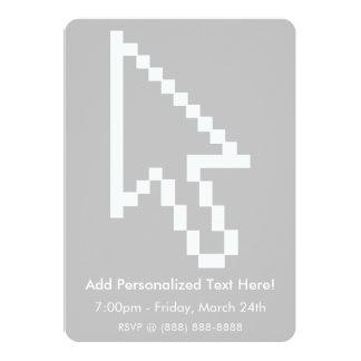 Gráfico da seta do cursor do rato convite 12.7 x 17.78cm