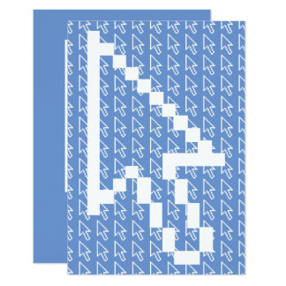 Gráfico da seta do cursor do rato convite 8.89 x 12.7cm