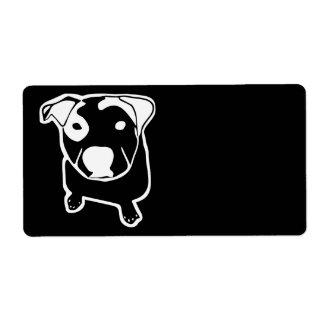 Gráfico do T-Osso do pitbull Etiqueta De Frete