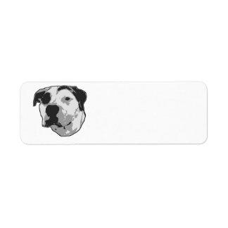 Gráfico do T-Osso do pitbull Etiqueta Endereço De Retorno