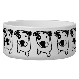 Gráfico do T-Osso do pitbull Tijelas Para Comida De Cachorros