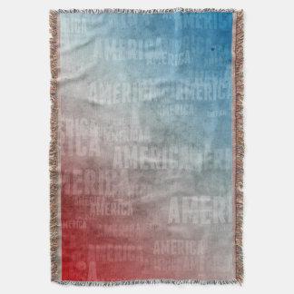 Gráfico patriótico do texto de América Manta