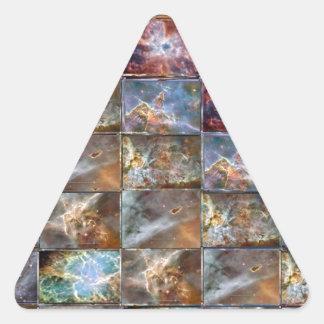 Gráficos do trabalho do azulejo da onda de CÉU Adesivos Em Forma De Triângulo