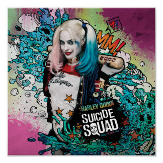 Grafites do caráter do pelotão | Harley Quinn do Póster
