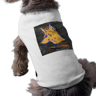 Grafites do estêncil do Pinscher do Doberman Camisa Sem Mangas Para Cachorro