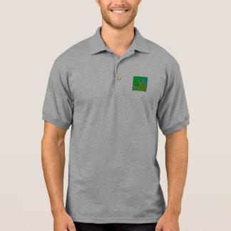 Grama verde do teste padrão abstrato camiseta polo