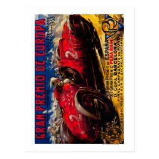 Gran Premio De Europa Vintage PosterEurope Cartão Postal