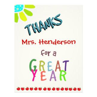 Grande ano, cartões de agradecimentos da sala de