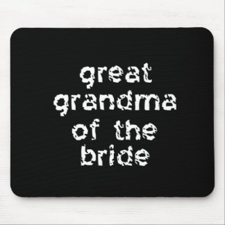 Grande avó da noiva mouse pad