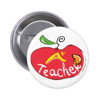 grande botão da maçã do professor botons