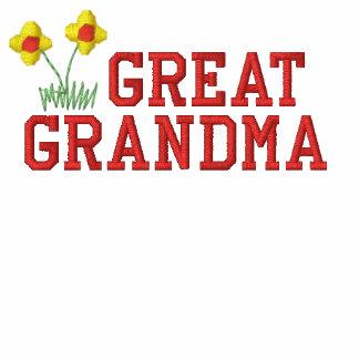 Grande camisa bordada da avó flor