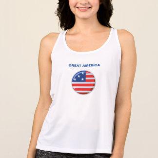 Grande camisa da bandeira de América
