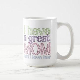 Grande caneca do dia das mães da mamã