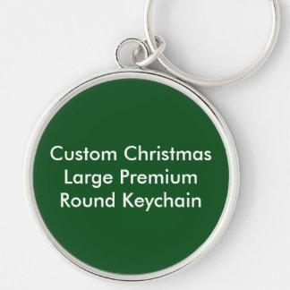 Grande chaveiro redondo superior do Natal feito