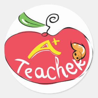 grande etiqueta da maçã do professor adesivo