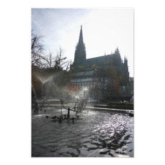 Grande fonte de Tinguely do iluminador, Basileia Impressão De Foto