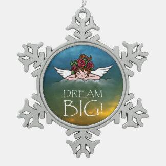 Grande ideal! ornamento de estanho floco de neve