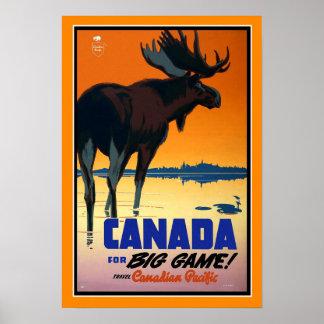Grande jogo de Canadá do poster das viagens
