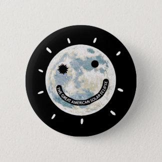 Grande lua americana Emoji do eclipse solar Bóton Redondo 5.08cm