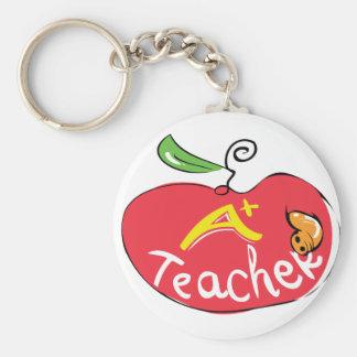 grande maçã do professor com chaveiro do sem-fim